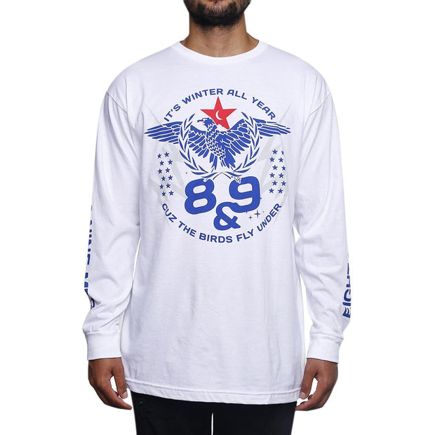8 9 MFG Co. winter true blue l s t shirt tees white TheDrop