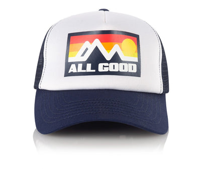 All Good navy horizon trucker hats and beanies blue TheDrop