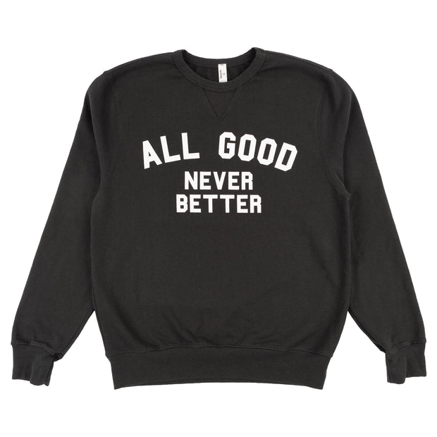 All Good upcycle agnb crewneck sweaters grey TheDrop