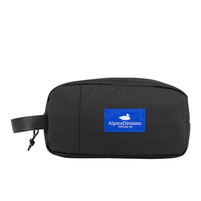 Alpine Division sherpa black ripstop travel toiletry kits TheDrop