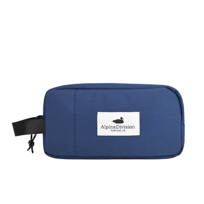 Alpine Division sherpa dopp kit navy travel toiletry kits TheDrop