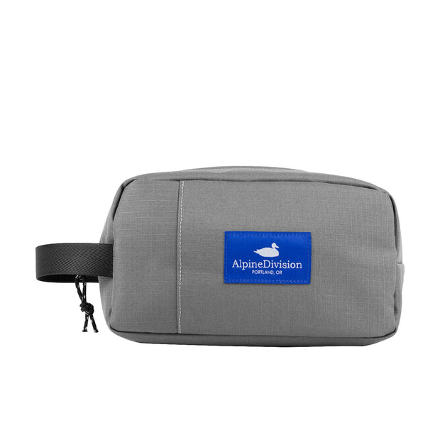Alpine Division sherpa grey ripstop travel toiletry kits TheDrop