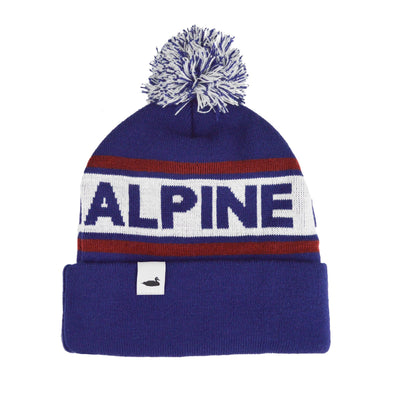 Alpine Division summit pom beanie navy hats and beanies TheDrop