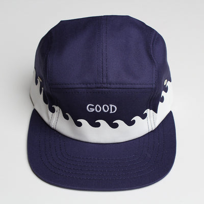Altru Apparel altru apparel lp good waves 5 panel cap hats and beanies navy TheDrop