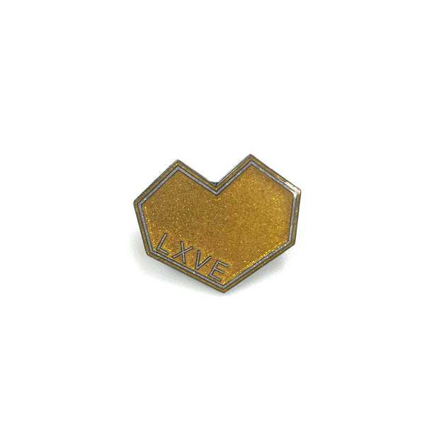 Art lxve studios pin gold the lave gallery TheDrop