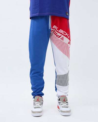 Black Pyramid Store bp shoulder strap logo track pant pants and joggers TheDrop