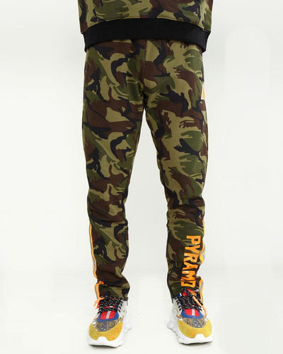 Black Pyramid Store high vis stripe camo pants pants and joggers camo TheDrop