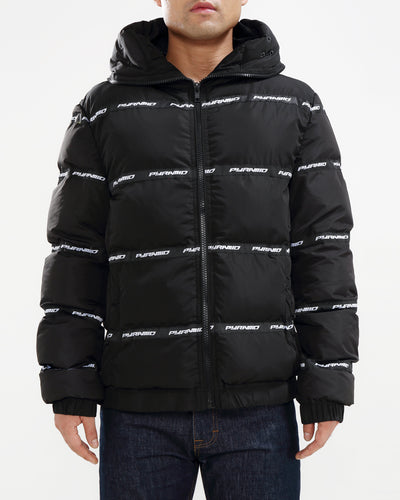 Black Pyramid Store main logo goggle down jacket black pyramid TheDrop