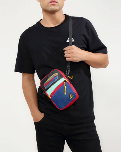 Black Pyramid Store orbit logo small side bag sling bags multi TheDrop