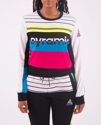 Black Pyramid Store womens pyramid elements crop top tops multi TheDrop