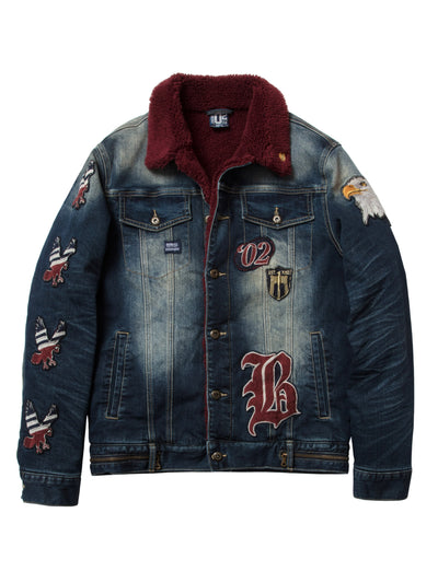 Born Fly ancestor denim jacket 1911o3531 dsw jackets and outerwear dark stone wash TheDrop