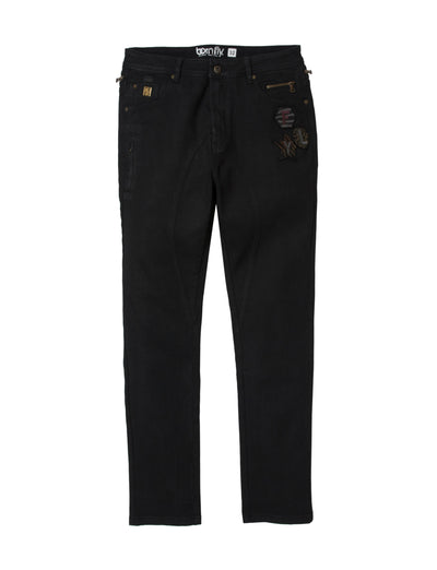 Born Fly battalion denim pant 1909d3546 blk denim jeans black TheDrop