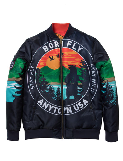 Born Fly big tall mountain reversible jacket 1910o3464bt nvy jackets and outerwear navy TheDrop