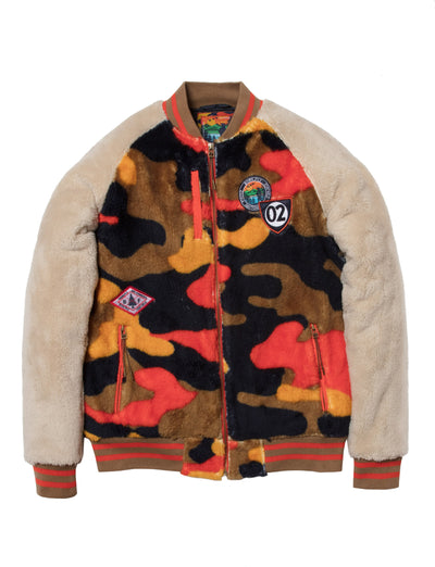 Born Fly leaves sherpa jacket 1910o3465 cam jackets and outerwear camo TheDrop