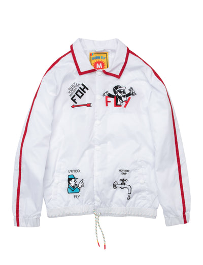 Born Fly monopoly jacket 2001o3567 white jackets and outerwear white TheDrop
