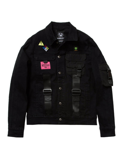 Born Fly retreat denim jacket 2001o3583 black jackets and outerwear black TheDrop