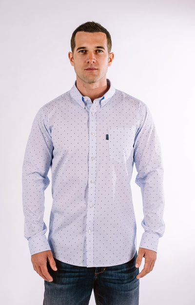 Brand Two Four blue stripe long sleeve shirt button down shirts TheDrop