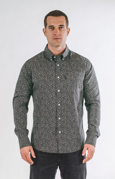Brand Two Four midnight long sleeve mens shirt button down shirts TheDrop