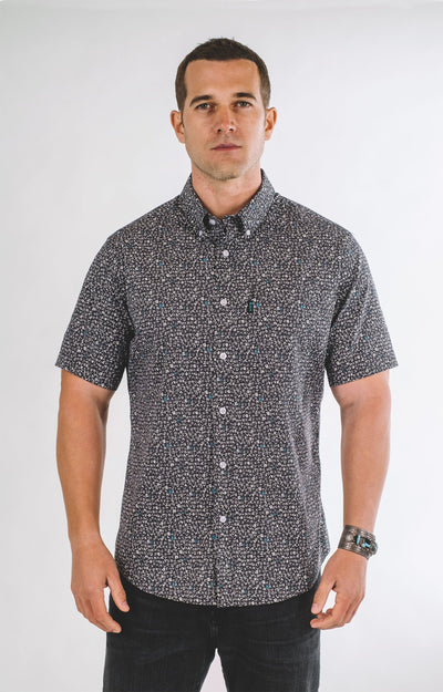 Brand Two Four midnight short sleeve mens shirt button down shirts TheDrop