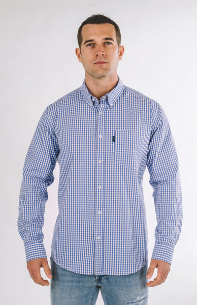 Brand Two Four sky blue long sleeve shirt button down shirts TheDrop