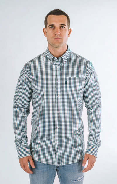 Brand Two Four turquoise long sleeve shirt button down shirts TheDrop