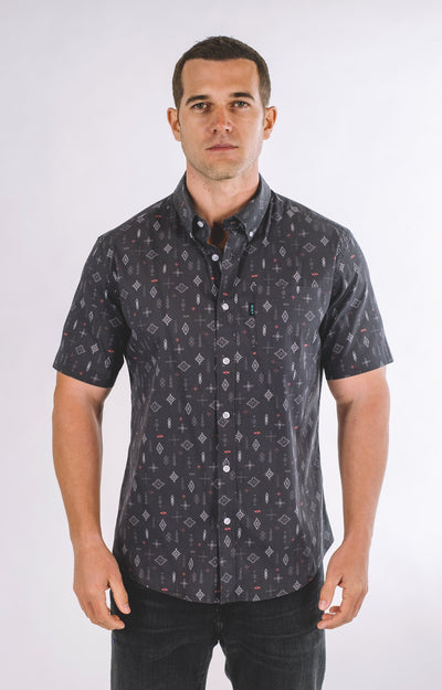 Brand Two Four twilight short sleeve mens shirt button down shirts TheDrop