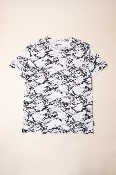 Brooklyn Cloth white marble print tee tees white TheDrop