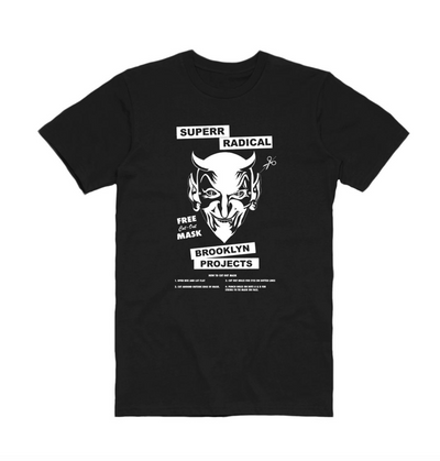 Brooklyn Projects brooklyn projects x superrradical mask tee 1 tees black TheDrop