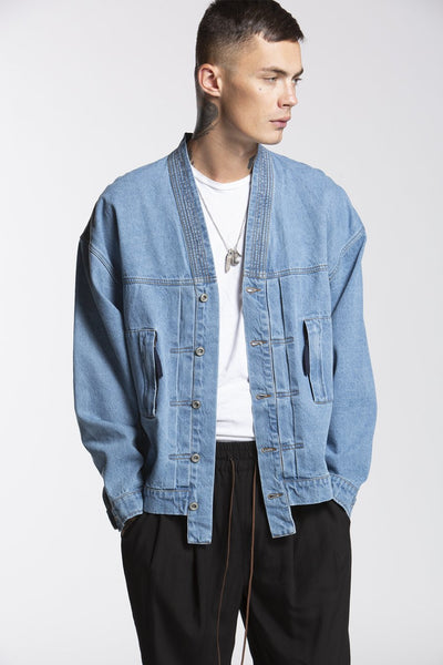 CANDOR Official noragi denim jacket jackets and outerwear TheDrop