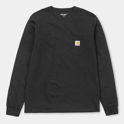 Carhartt carhartt wip long sleeve pocket shirt black tees TheDrop