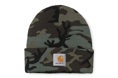 Carhartt WIP carhartt wip camo evergreen beanie p s q s TheDrop