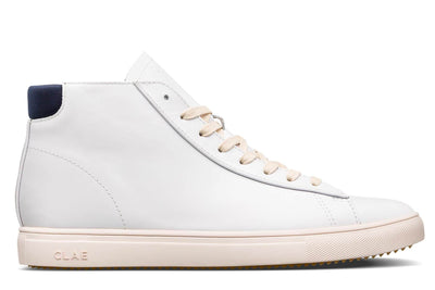 CLAE bradley mid leather navy ss17 sneakers white TheDrop