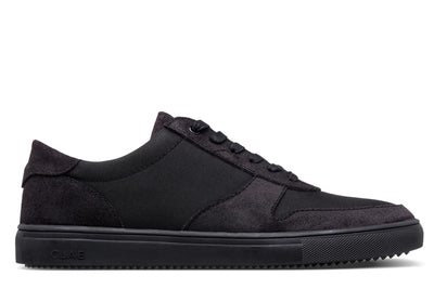 CLAE gregory black waxed suede sneakers black TheDrop