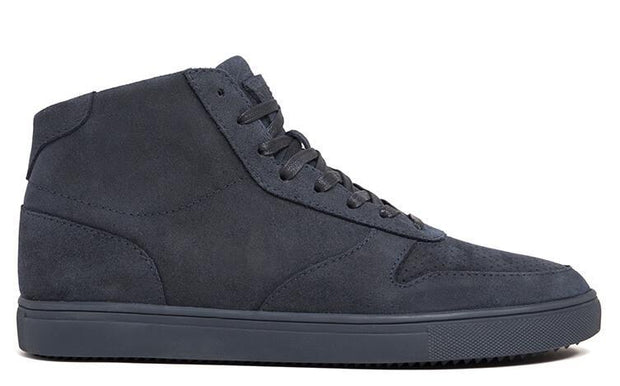 CLAE gregory mid deep navy waxed suede ss18 sneakers navy TheDrop