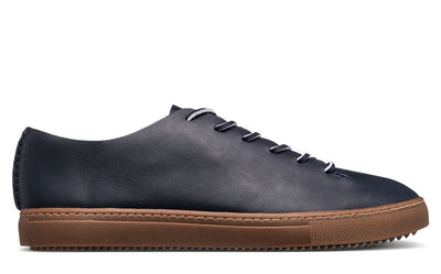 CLAE one piece deep navy leather ss19 footwear navy TheDrop