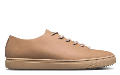 CLAE one piece oyster tan leather ss19 footwear beige TheDrop