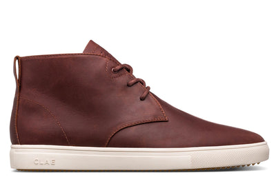 CLAE strayhorn sp chestnut oiled leather brown TheDrop