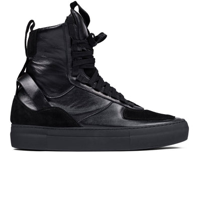 CLEARWEATHER beltempo high in triple black sneakers black TheDrop