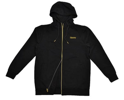 Connetic henny tech fleece zip up hoodie hoodies and crewnecks black TheDrop