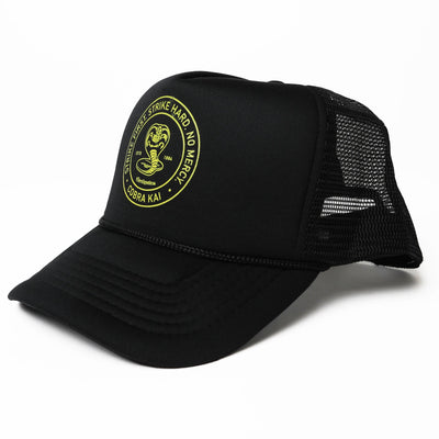 Contenders Clothing cobra kai circle stamp trucker snapback hats and beanies TheDrop