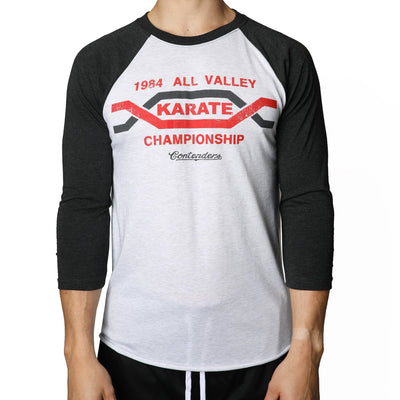 Contenders Clothing karate kid all valley tournament raglan tees and tank tops TheDrop