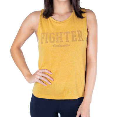 Contenders Clothing womens fighter tank tank tops yellow TheDrop