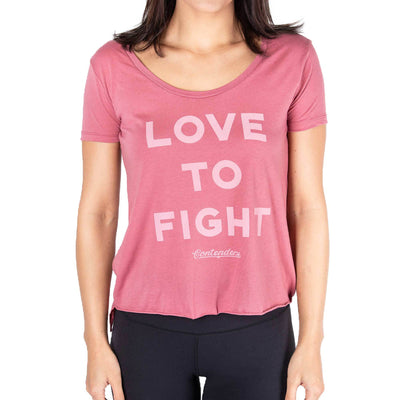 Contenders Clothing womens love to fight scoop 1 contenders TheDrop