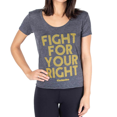 Contenders Clothing womens love to fight scoop tank tops charcoal TheDrop