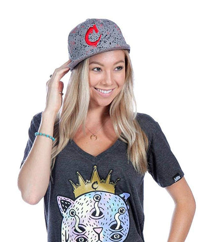 Coronation Apparel c logo splatter hats and beanies TheDrop