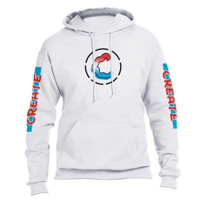 CREATE bomb pop hoodie white sweaters white TheDrop