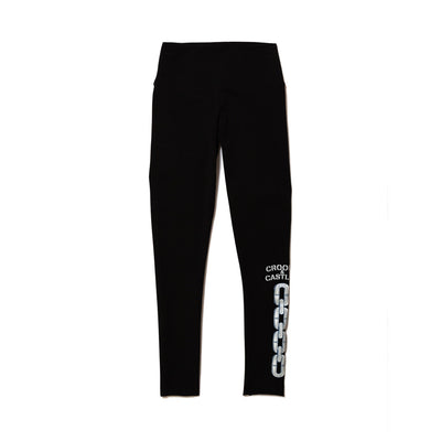 Crooks Castles stencil chain legging leggings black TheDrop