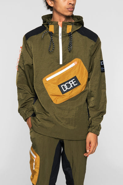DOPE nomad anorak army green jackets and outerwear green TheDrop