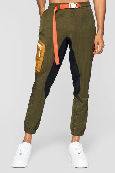 DOPE nomad joggers army green pants and joggers green TheDrop