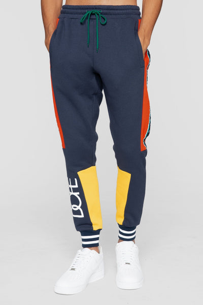 DOPE racer joggers navy pants and joggers navy TheDrop